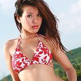 Breasty Aor Chan Poolside Bikini Strip