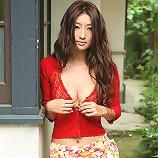 Sexy gravure idol beauty slowly takes off her pink kimono