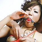 Mahiru Tsubaki Asian in colorful outfit gets vibrator and boner