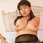 Ruri Kouda Asian has clit under vibrator and cunt fingered by men
