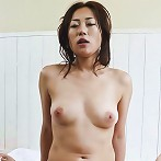 Yuu Uehara Asian with firm tits strokes dick while is screwed