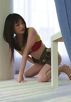 Foxy Rika Sonohara got cum sprayed all over her crotch
