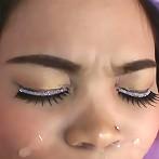 Cute Thai girl Jang licks ass sucks cock and gets a huge facial blast