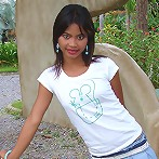 Asian Teen Tussinee doing some public flashing in a dinosaur park