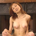Thin asian amateur with large breasts shows her tight cunt