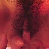 Hairy asian sucks a hard cock and gets her pussy creampied