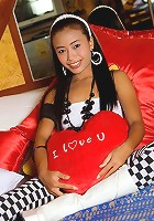 32 Kilo Thai teen is introduced to a Sybian Machine
